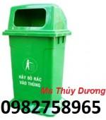 Chuyên cung cấp thùng rác nhựa Composite 90l, thùng rác 60l, thùng rác công cộng