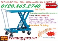 Xe nâng bàn 300kg, 500kg, 1000kg hiệu Gamlift - Mỹ giảm giá cực sốc, xả hàng