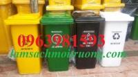 Thùng rác 240 lít, thùng rác y tế, thùng đựng chất thải giá rẻ