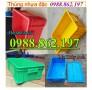 hộp nhựa B4, thùng nhựa công nghiệp giá rẻ, sản xuất nhựa công nghiêp, thùng nhự