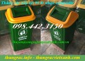 Sản xuất thùng rác 60 lít nắp lật, thùng rác 90 lít nắp lật nhựa composite