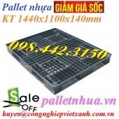 Thanh lý pallet nhựa 1440x1100x140mm màu đen giá sốc call 0984423150 – Huyền