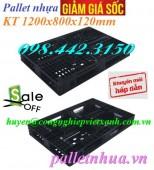 Pallet nhựa 1200x800x120mm giá siêu rẻ - khuyến mãi hấp dẫn call 0984423150