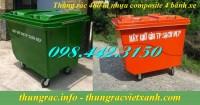 Thùng rác 480 lít nhựa composite giảm giá sốc – siêu khuyến mãi call 0984423150
