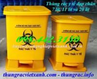 Bán thùng rác y tế, thùng rác đạp chân màu vàng giá rẻ call 0984423150 - Huyền