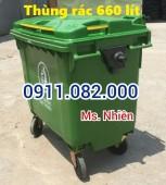 sỉ lẻ giá rẻ thùng rác 660 lít- xe đẩy rác 660 lít- 0911082000