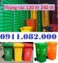 Phân phối thùng rác nhựa nhập khẩu thái lan giá rẻ- thùng rác mới 100‰
