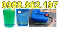Can nhựa, can nhựa đựng hóa chất, can nhựa đựng xăng dầu, can nhựa vuông 22l