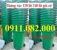 Thùng rác 120 lít 240 lít giá rẻ tại đồng nai- Thùng rác nhựa hdpe nguyên sinh-