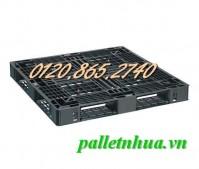Thanh lý pallet nhựa 1100x1100x125mm giá siêu rẻ chỉ 260.000đ call 01208652740