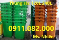 Cung cấp thùng rác 120L 240L 660L giá rẻ- lh 0911.082.000- Ms Nhiên