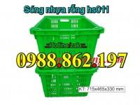óng nhựa rỗng hs011, sọt nhựa quai sắt hs011, Sọt nhựa HS011, sọt nhựa Sọt quai