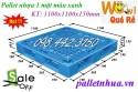 Pallet nhựa 1100x1100x150mm tải trọng trung bình giá siêu rẻ call 0984423150
