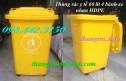 Thùng rác y tế 60 lít, thùng rác nhựa 60l màu vàng giá siêu rẻ call 0984423150