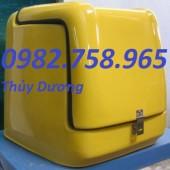Bán thùng nhựa Composite, thùng ship hàng, thùng chở hàng sau xe máy