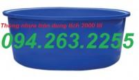 Cung cấp thùng nhựa nuôi cá, thùng nhựa 500l, thùng nhựa có nắp đậy