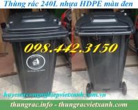 Thùng rác 240 lít màu đen giá siêu rẻ - giảm giá sốc call 0984423150 – Huyền
