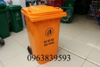 Thùng rác nhựa, thùng rác nhựa 240L màu cam giá rẻ