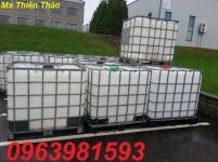 Cung cấp thùng đựng hóa chất, thùng 1000l màu trắng, bồn chứa hóa chất giá rẻ