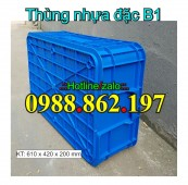 Thùng nhựa đặc b1, Thùng nhựa B1, thùng B1, thùng nhựa b1 giá rẻ, thùng nhựa lin