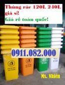 Đại lý cung cấp thùng rác nhựa giá rẻ tại sài gòn- lh 0911.082.000