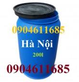 Thùng phuy nhựa 150 lít, 220 lít, thùng phuy đựng hóa chất, vỏ thùng phuy cũ