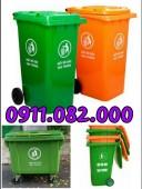 Nơi bán thùng rác 240 lít giá rẻ tại trà vinh- thùng rác 660 lít 4 bánh xe-09110