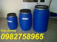Cung cấp thùng phuy đựng nước, thùng phuy nhựa 100l, thùng phuy nắp kín
