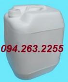 Bán can 20l, can 30l, can đựng hóa chất, can nhựa tròn màu trắng giá rẻ