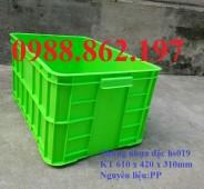 Thùng nhựa đặc hs019, thùng nhựa đặc,sóng nhựa đặc hs019, thùng nhựa đặc có nắp