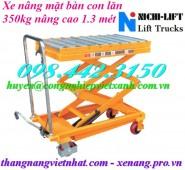 Xe nâng mặt bàn con lăn 350kg nâng cao 1.3 mét NICHI-LIFT giá siêu cạnh tranh