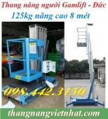 Thang nâng người cao 8 mét – 125kg GTWY8-100 hiệu GAMLIFT – GERMANY hàng có sẵn