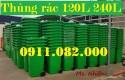 Thùng rác 120 lít màu xanh giá rẻ tại bạc liêu- lh 0911082000 Nhiên