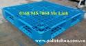 Pallet nhựa 1200x1000mmx150mm màu xanh