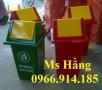 Thùng rác y tế 90 lít nhựa composite,thùng rác nắp lật 90 lít