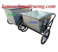 Sản xuất xe gom rác, cung cấp xe gom rác giá rẻ, xe gom rác tôn 500l mới