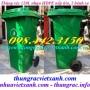 Thùng rác 120 lít nhựa HDPE nắp kín - 2 bánh xe giá siêu rẻ call 0984423150