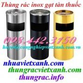 Thùng rác inox tròn gạt tàn thuốc giá siêu cạnh tranh call 0984423150 – Huyền