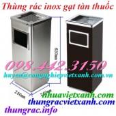 Thùng rác inox vuông gạt tàn thuốc giá siêu cạnh tranh call 0984423150 – Huyền