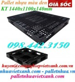 Pallet nhựa đen 1440x1100x140mm giá rẻ, siêu cạnh tranh call 0984423150 Huyền