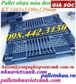 Pallet nhựa 1465x1100x120mm màu đen giá rẻ, siêu cạnh tranh call 0984423150