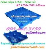 Pallet nhựa 9 chân 1200x1000x140mm giá siêu rẻ call 0984423150 Huyền