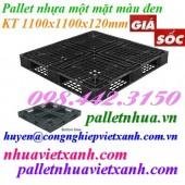 Pallet nhựa đen 1100x1100x120mm hàng mới 100‰ thanh lý giá rẻ call 0984423150