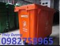 Xe gom rác 660l, xe gom rác thải công nghiệp, xe gom rác nhựa HDPE