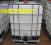 Bán Tank nhựa 1000l, tank IBC, thùng nhựa đựng hóa chất giá rẻ