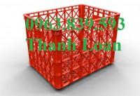 Sóng nhựa đan - rổ nhựa công nghiệp có bánh xe giá cạnh tranh - LH: 0963.839.593