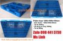Pallet nhựa 1200x1000x150mm màu xanh tải 1000kg và 3000kg siêu khuyến mãi
