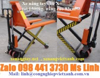 Xe nâng tay chữ X 1500kg, xe nâng tay cắt kéo 1500kg LH 098 441 3730 Ms Linh