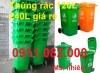 Phân phối thùng rác 120 lít 240 lít 660 lít giá rẻ tại Sóc Trăng
