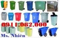 Bán thùng rác 120L 240L giá rẻ- Thùng rác y tế, thùng rác môi trường giá rẻ- lh